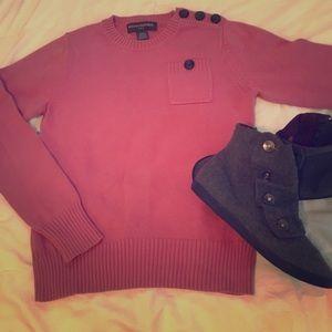 Pink W Navy Buttons - Banana Republic - Sweater